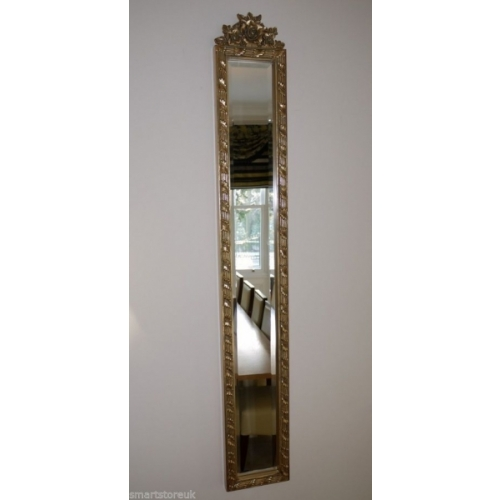 Stunning Full Length Rectangle Mirror With Beveled Glass & Gold Frame (2499)