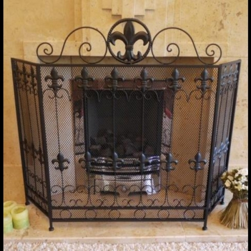 Brand New Metal flur de leasFire Guard/Fire Screen - Black 3 Panels(2358)