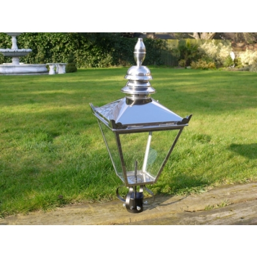 VICTORIAN LANTERN LAMP POST TOP GARDEN LIGHTING IN STAINLESS STEEL 3032