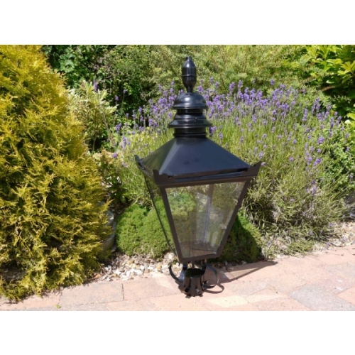 TRADITIONAL BLACK VICTORIAN LANTERN NOT COPPER LAMP GARDEN STREET LIGHT (3138)