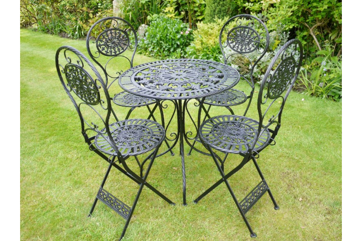 Wrought Iron Table & 4 Chairs (3333)