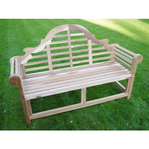 STRONG TEAK LUTYENS GARDEN BENCH MADE FROM SOLID TEAK