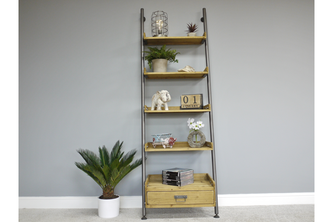 Wooden Ladder Style Shelves