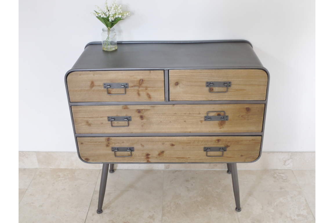 Industrial Retro 4 Drawer Unit