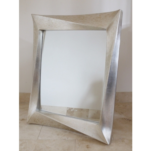 AGED ANTIQUE SILVER FINISH WITH RESIN EFFECT MIRROR 4204