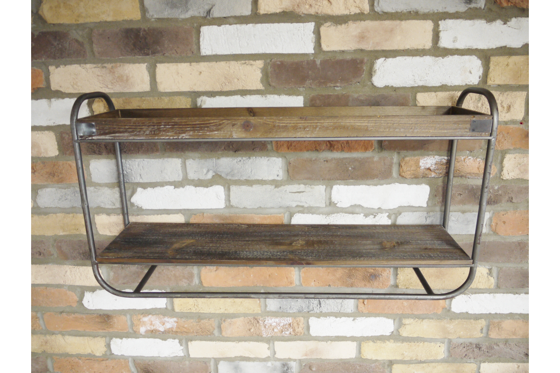 Industrial Metal and Wood Shelf