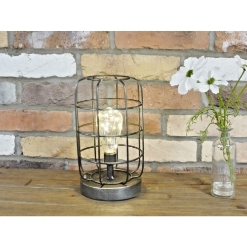 UNIQUE BATTERY OPERATED LED METAL INDUSTRIAL TABLE LIGHT / NIGHT LIGHT 5012