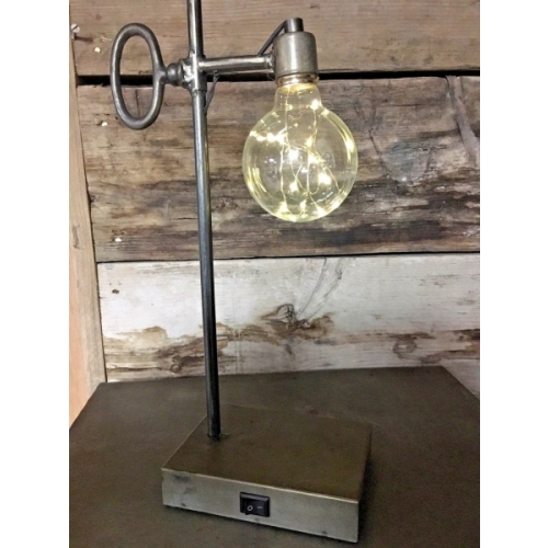 UNIQUE BATTERY OPERATED LED METAL INDUSTRIAL TABLE LIGHT / NIGHT LIGHT 5067