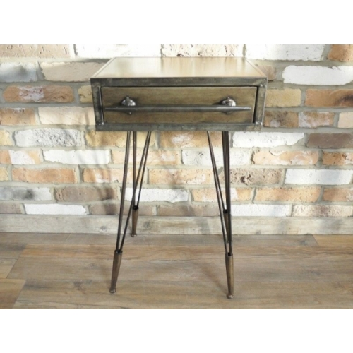 Industrial Vintage Bedside Cabinet Cupboard Drawers Storage Unit Table 5161