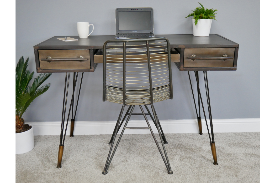 Vintage Retro Style Metal Desk