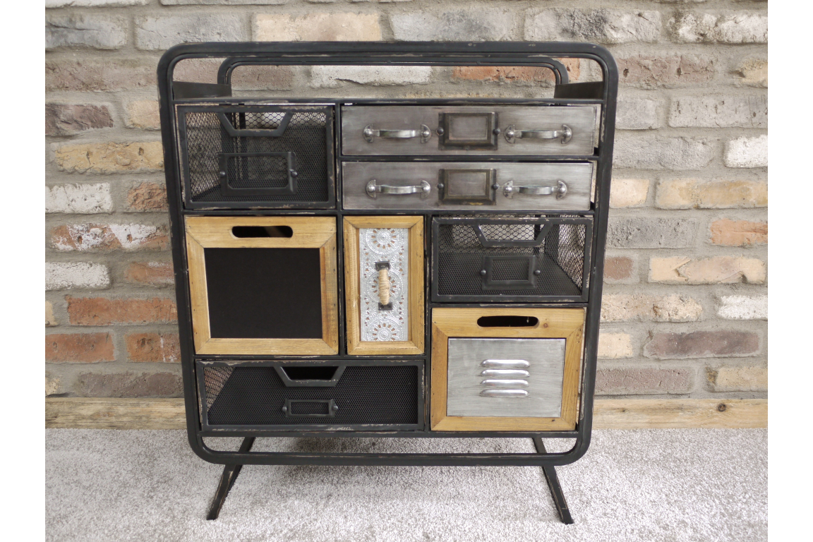 Industrial Small Multi Draw Metal Cabinet