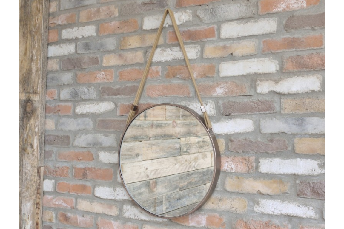 Wall Hanging Metal Round Mirror