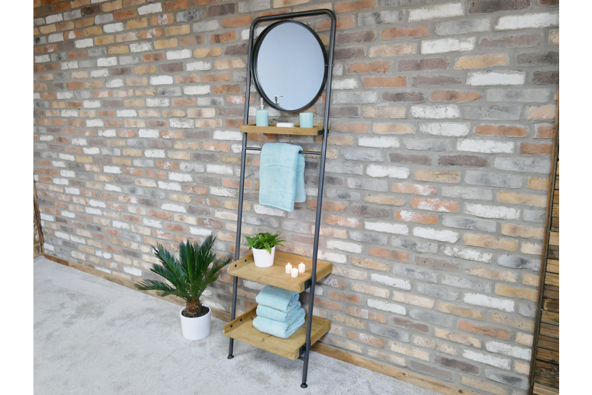 Shelving Rack with Mirror