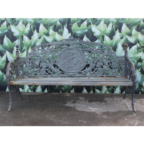 Large Adelaide bench in cast iron