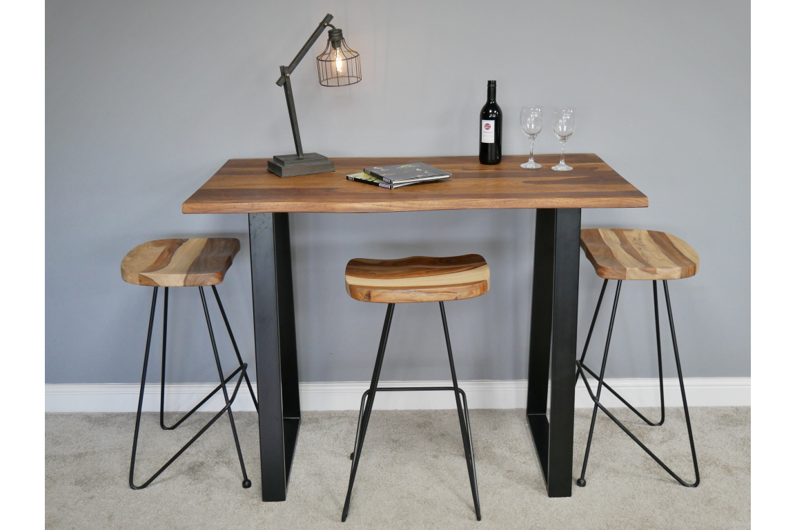 Sheesham Living Edge Bar / Breakfast Table
