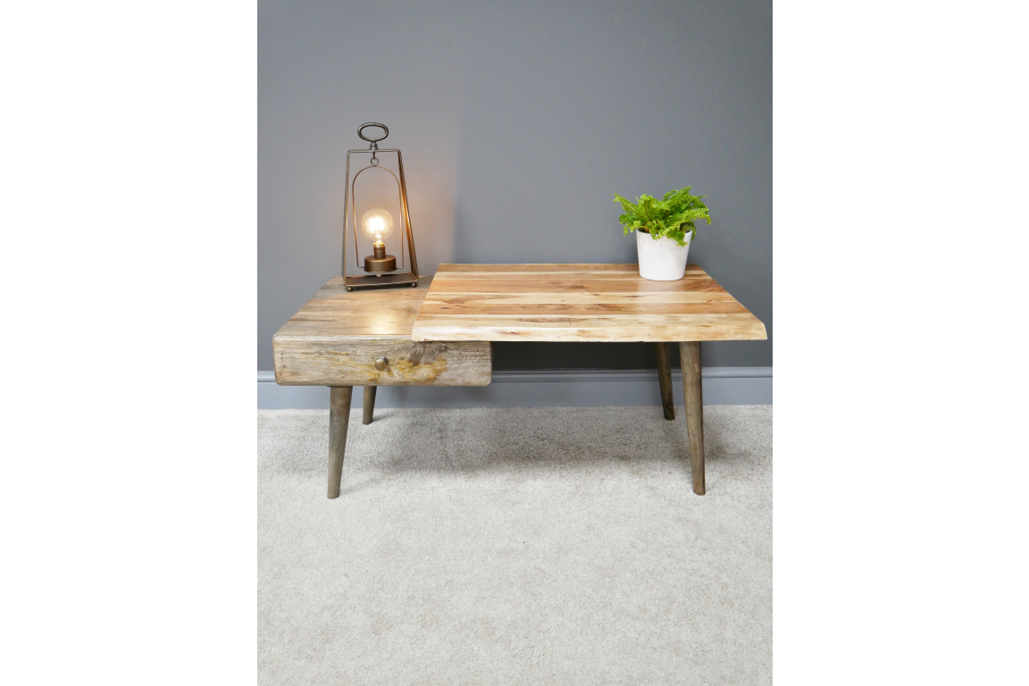 Overlapping Living Edge Coffee Table