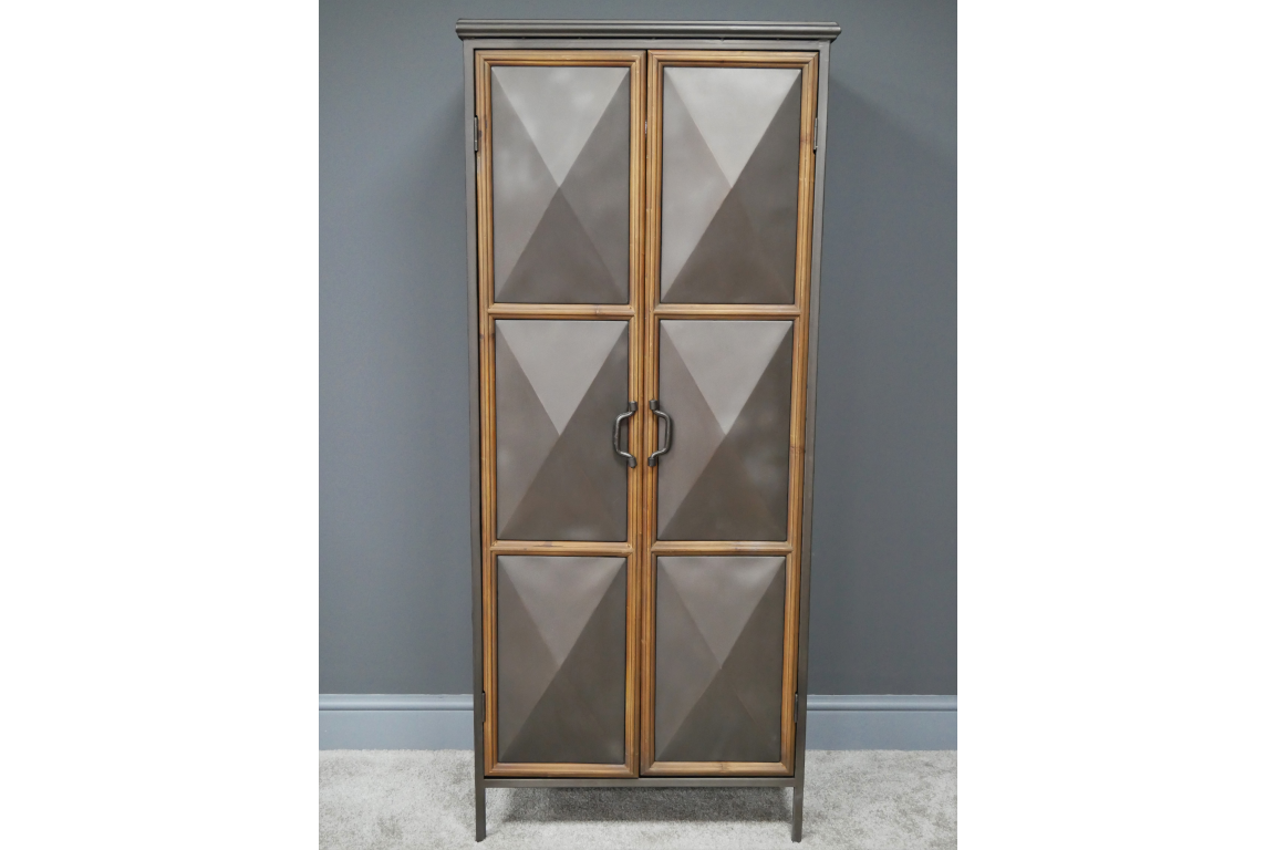 Industrial Metal & Wood Cabinet