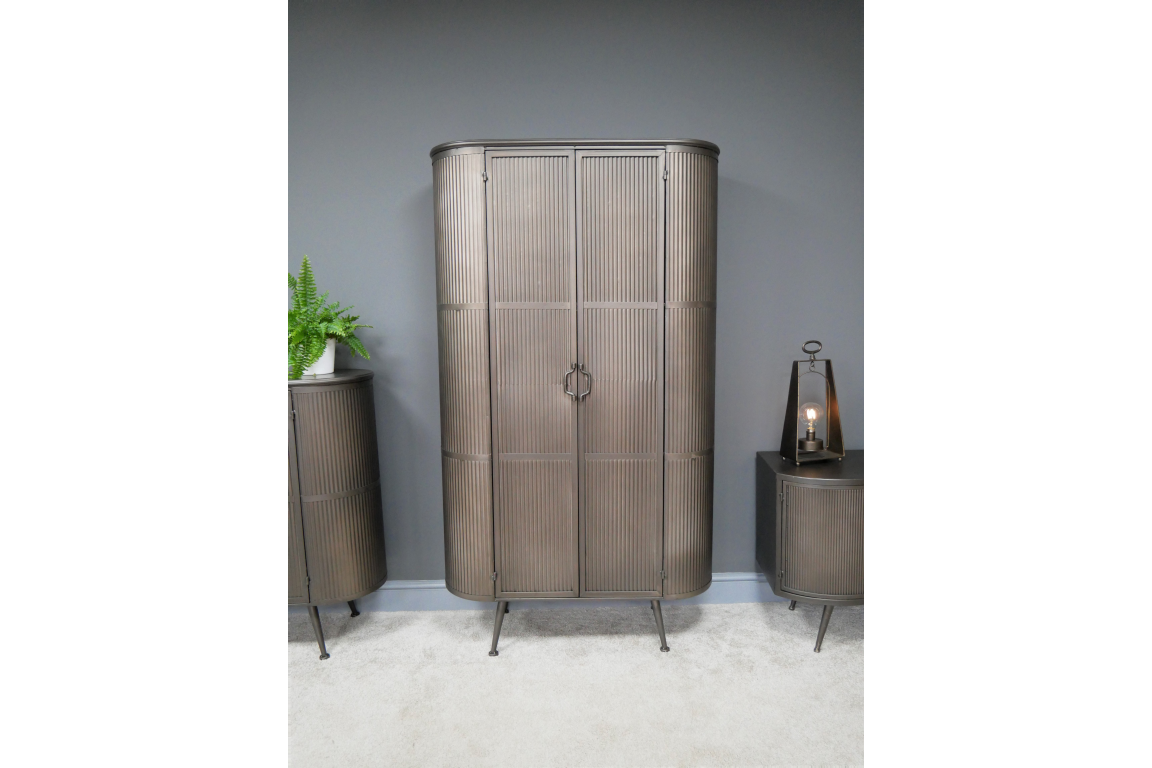 Tall Corrugated Metal Industrial Cabinet