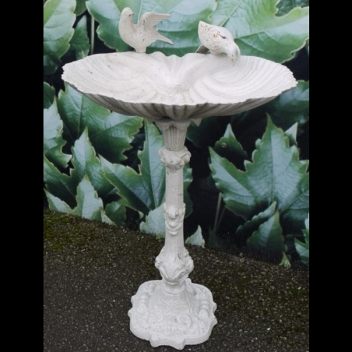 Beautiful Large Ornate Cast Iron Rustic Bird Bath