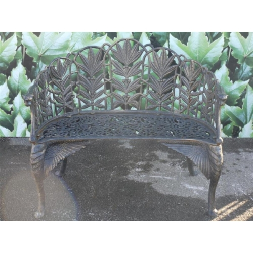 Garden Bench Cast Iron Flower Design