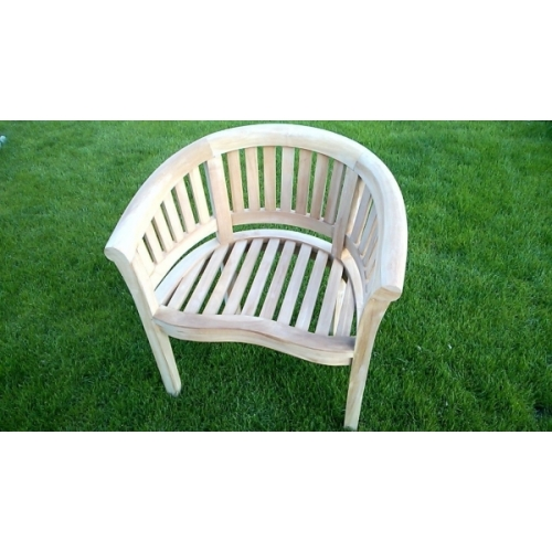 STUNNING STRONG HAND MADE BOWOOD SOLID TEAK GARDEN / PATIO BENCH SINGLE SEATER