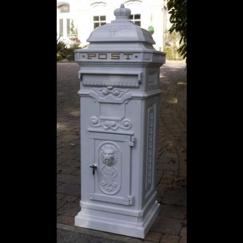 Cast Aluminium Pillar Post Wedding post box/Letter Box
