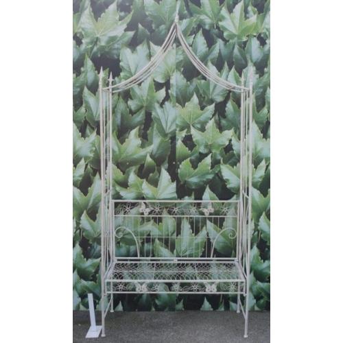 Astonishing Metal Garden Bench With Arch Top 1725 Machost Co Dining Chair Design Ideas Machostcouk