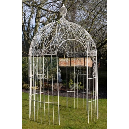 Metal Garden Gazebo or Pavillion - Cream