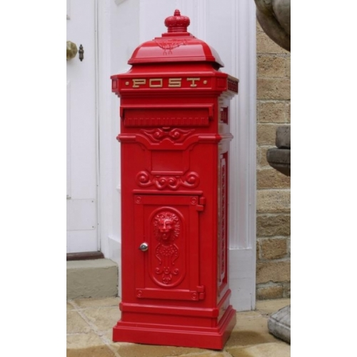 Cast Aluminium Letter Box - Red