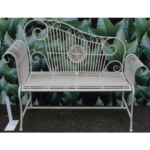 Cast Iron Patio Bench Wrought Ends Lowes Furniture Cushions