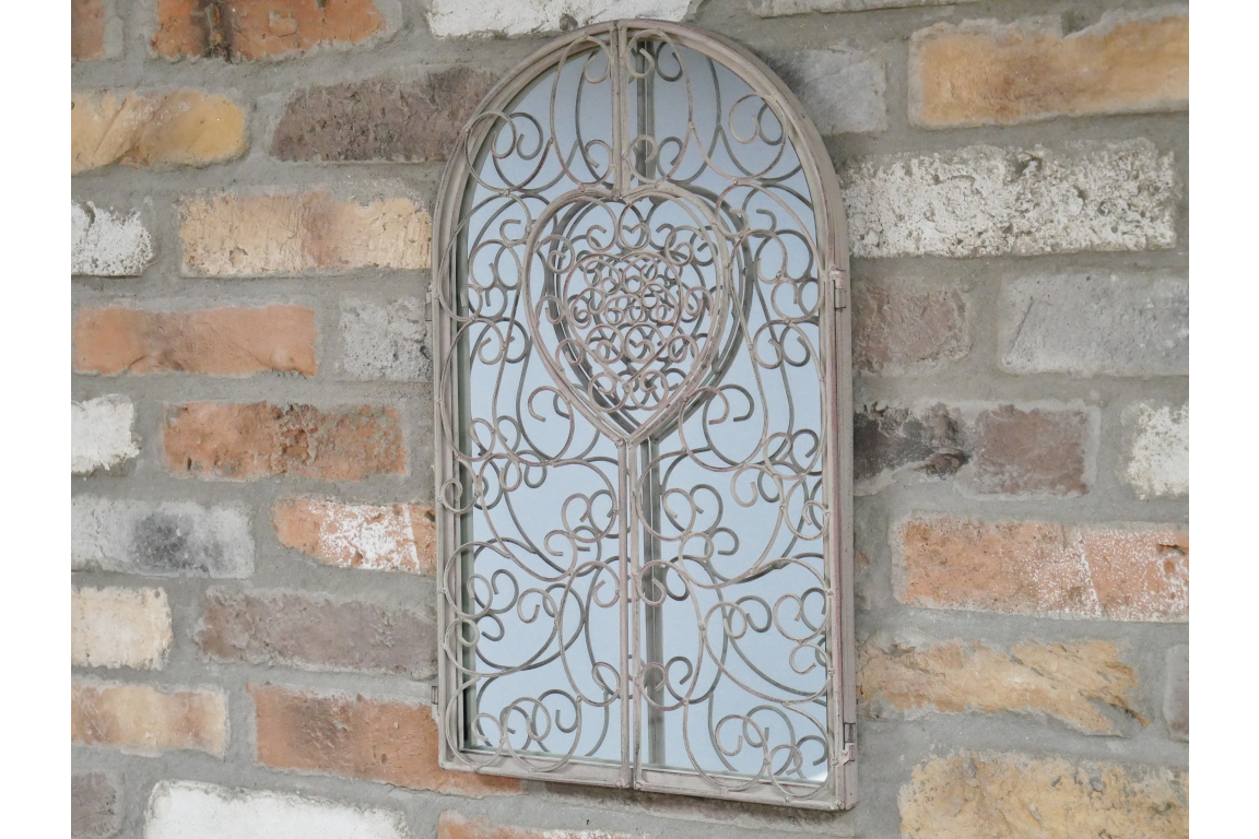 Metal Arched Shutter Mirror