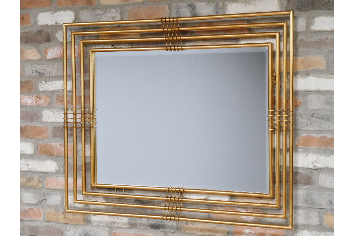 Large Bronze Metal Square Mirror