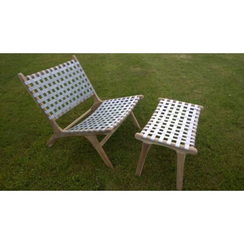 MODERN HAND MADE TEAK GARDEN / PATIO BENCH & STOOL WITH ALUMINIUM LATTICE